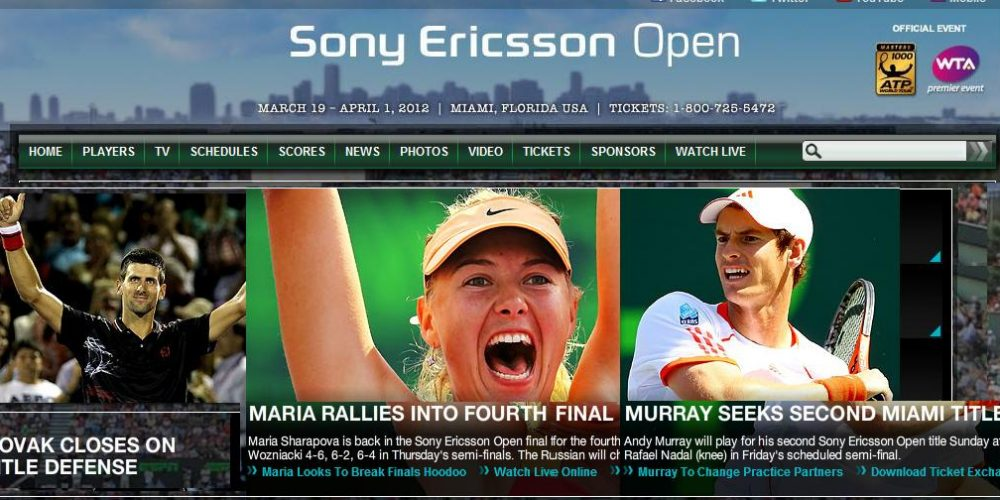 The Sony Ericsson Tennis Open in Miami