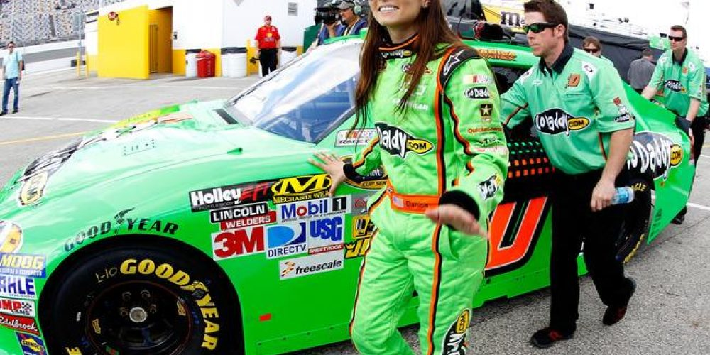 Danica Patrick on the Pole Saturday at Daytona