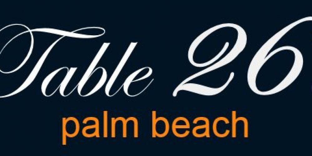 Table 26 – West Palm Beach