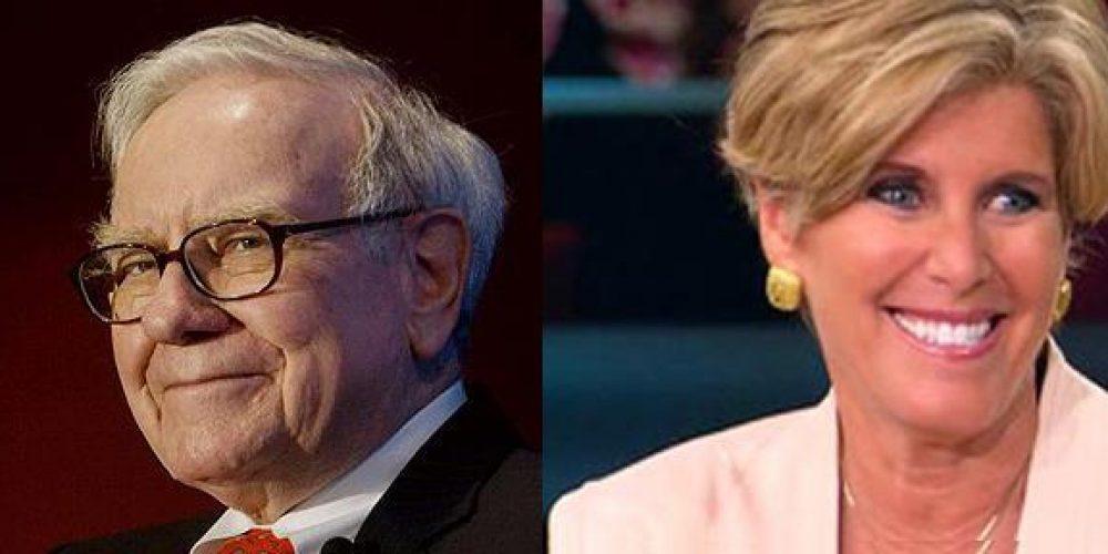 Real Estate Advice – Suze Orman or Warren Buffett?